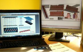 dedykowane doradztwo techniczne - laptop z projektami na ekranie