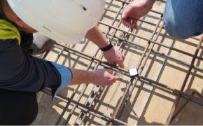 kontrola dojrzałości betonu - montaż czujnika