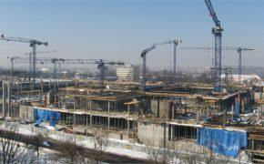 Budowa centrum handlowego Galeria Słoneczna w Radomiu - szalunki
