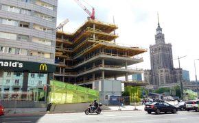 Budowa biurowca Nowy Sezam - Centrum Marszałkowska - szalunki