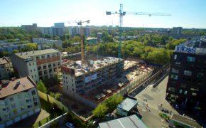 Budowa zespołu budynków Apartamenty Matejki w Łodzi - szalunki