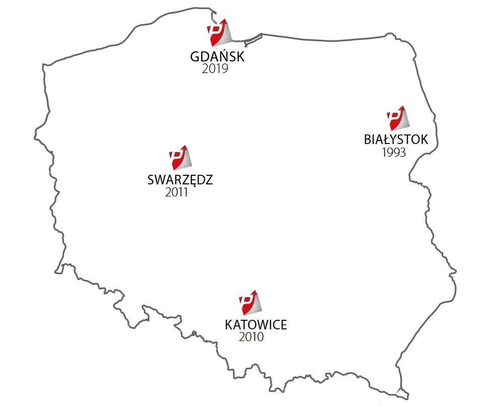mapa 2019 - utworzenie oddziału północ