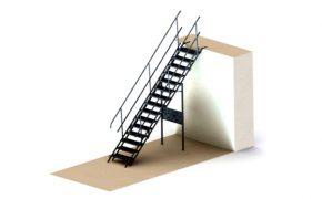 wizualizacja schody tymczasowe do wykopów pal-sdw