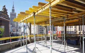 Budowa biurowca Astoria w Warszawie - szalunki