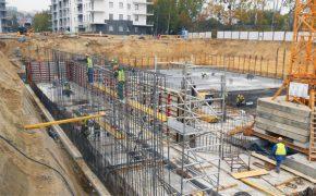 Budowa osiedla Słoneczna Morena w Gdańsku - szalunki