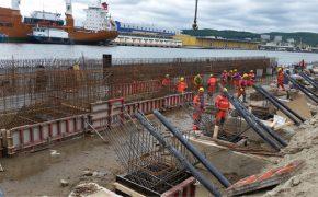 Przebudowa Nabrzeża Rumuńskiego w porcie w Gdyni - szalunki