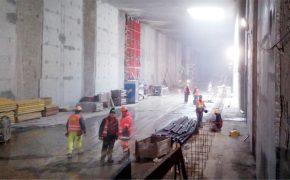 Budowa dworca Nowa Łódź Fabryczna w Łodzi - szalunki