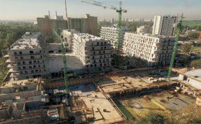 Budowa Apartamentów Atal Marina w Warszawie na Białołęce - szalunki