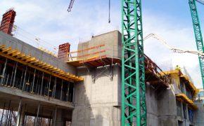 Budowa Hotel Four Points by Sheraton w Warszawie - szalunki