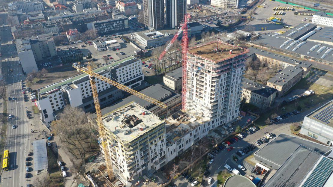 Budynek mieszkalno-usługowy Sokolska 30 Towers - szalunki