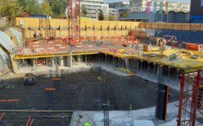Budowa budynku mieszkalnego Parkur Residence - szalunki