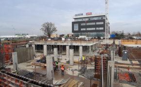 Budowa hotelu Q Hotel - szalunki