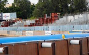 Budowa stadionu Polonii Bydgoszcz - szalunki