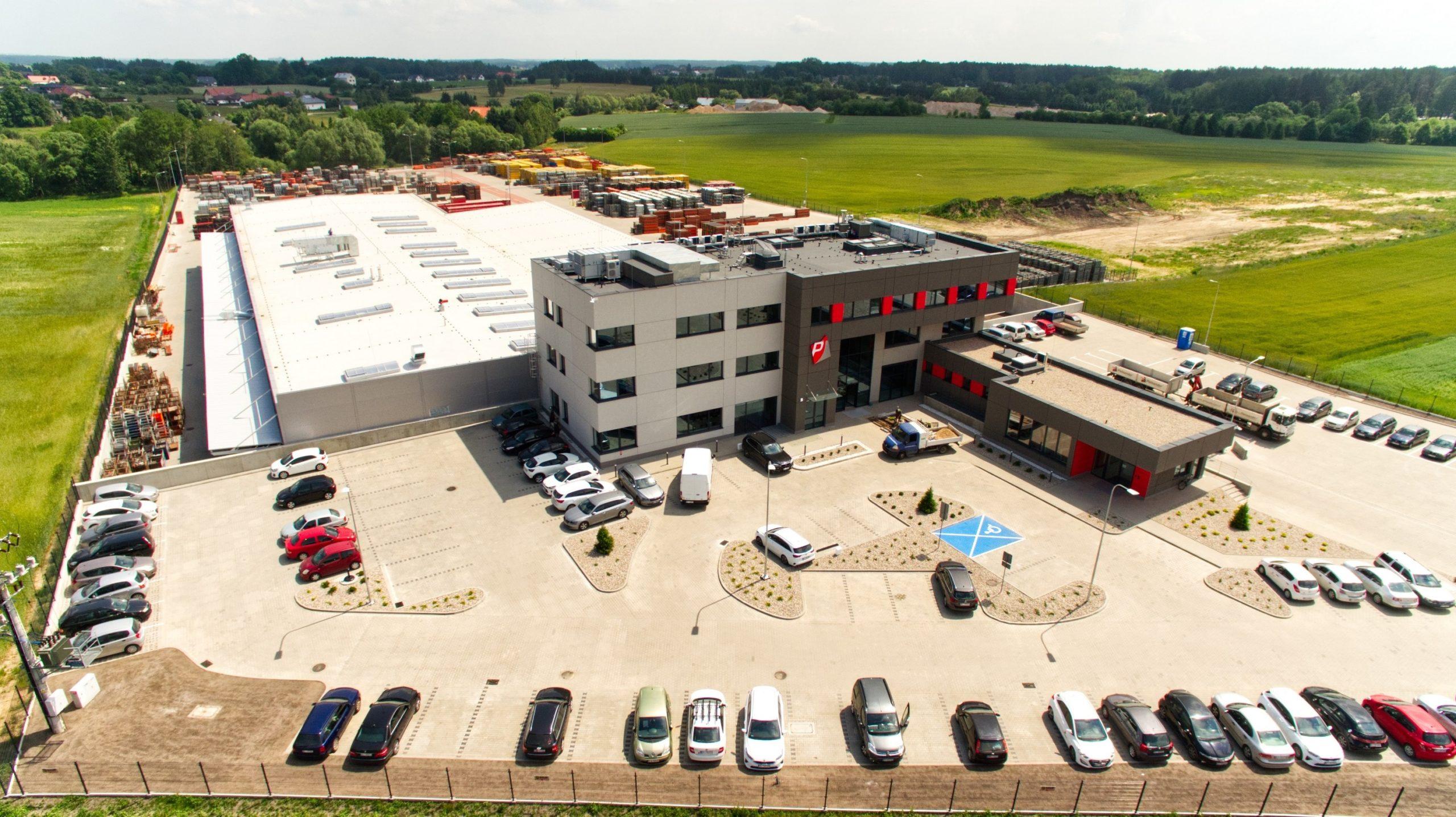 Centrum Logistyczne Palisander - widok z drona