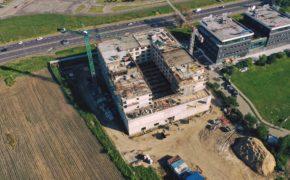 Q Hotel na szalunkach Palisander - widok z drona