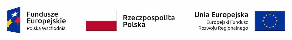 Logo Fundusze Europejskie, flaga Rzeczpospolita Polska, Flaga Unii Europejskiej